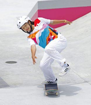 スケートボード西矢椛が金メダル