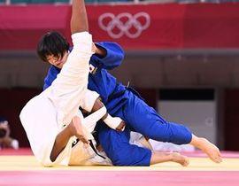 柔道女子78キロ級決勝で、フランス選手を破り優勝した浜田尚里(撮影・軸丸雅訓)