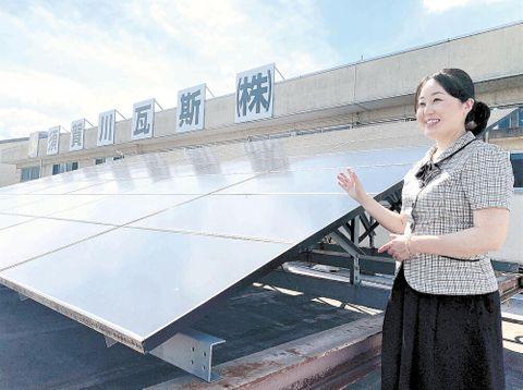 社長を継いで3年を迎える橋本さん。電力の地産地消に向けた挑戦は続く=1日、須賀川市