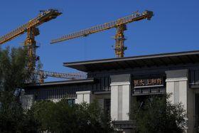 中国恒大集団の住宅展示場=9月、北京(AP=共同)