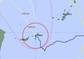 23日午後8時現在の台風6号の進路図(気象庁HPより)
