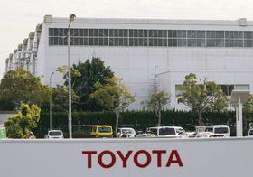 一時生産調整を実施したトヨタ自動車高岡工場=愛知県豊田市