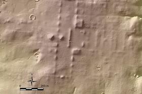 上空からのレーザー観測で判明した遺跡の例(猪俣健・米アリゾナ大教授提供)