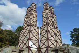 保存修理工事が終わり、公開を再開する韮山反射炉=伊豆の国市