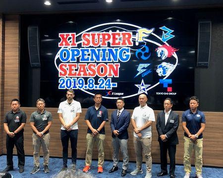 X1スーパーは9月4日、富士通―ノジマ相模原で開幕