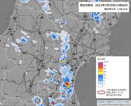30日午前11時40分の雨雲の動き(気象庁ホームページより)