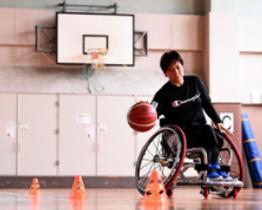 黙々と練習に取り組む平井美喜。コロナ禍でチーム練習の機会は少なく、1人で汗を流すことも多い
