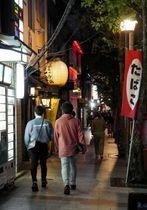 営業時間短縮要請などが解除された京都市の木屋町通=22日午後