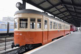 JR九州が保管している鉄道車両「キハ四二〇五五号気動車」